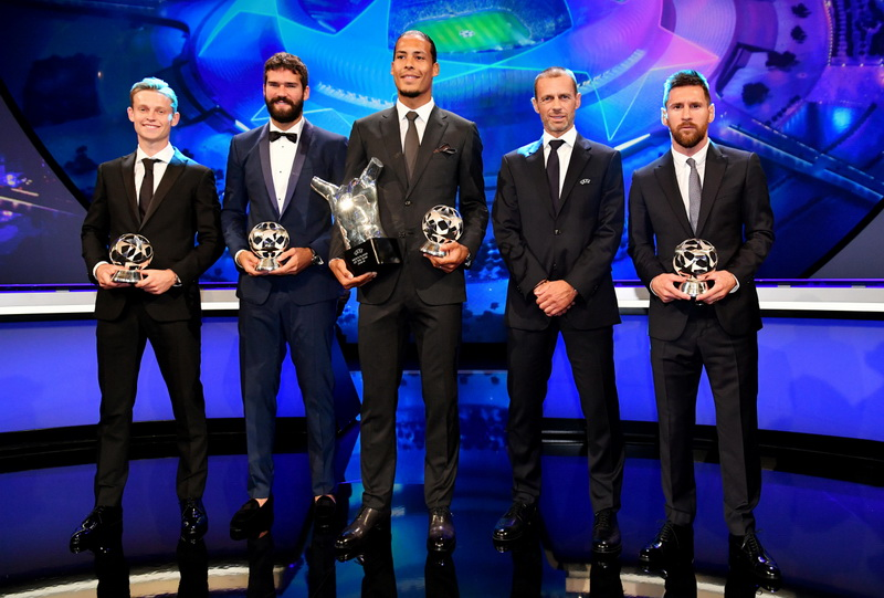 UEFA CL positional winners