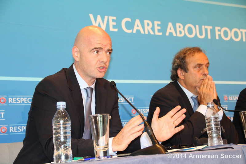 G.Infantino during press-conference