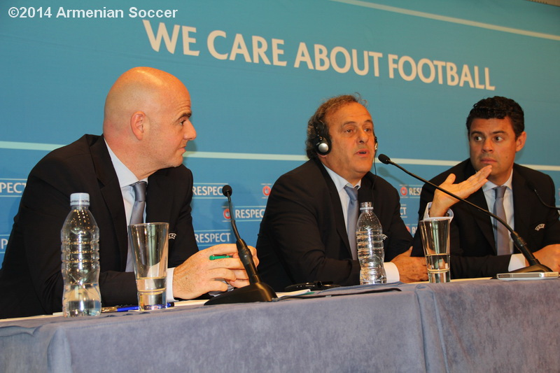 M.Platini during press-conference